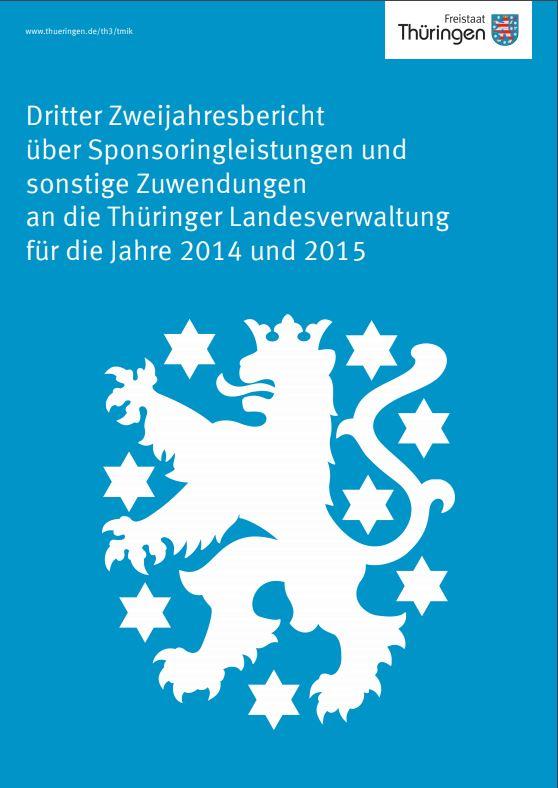 Deckblatt Sponsoringbericht 2014 2015