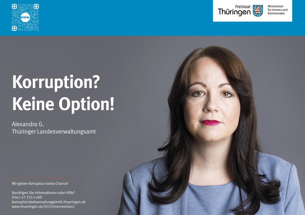 Plakat Antikorruptionskampagne