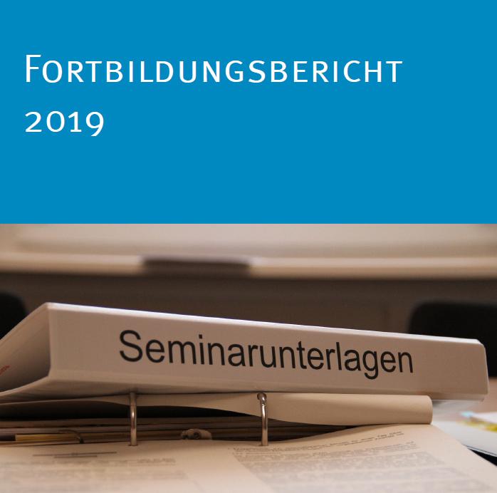Deckblatt des Fortbildungsberichts 2019