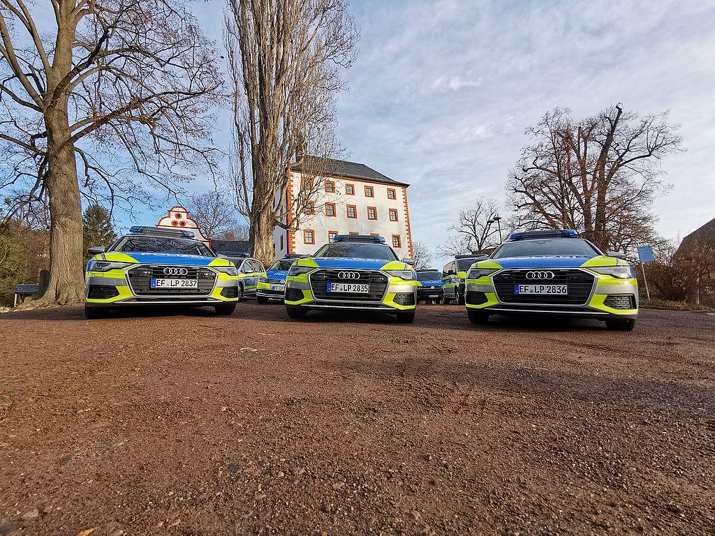 Übergabe der neuen Fahrzeuge für die Thüringer Polizei